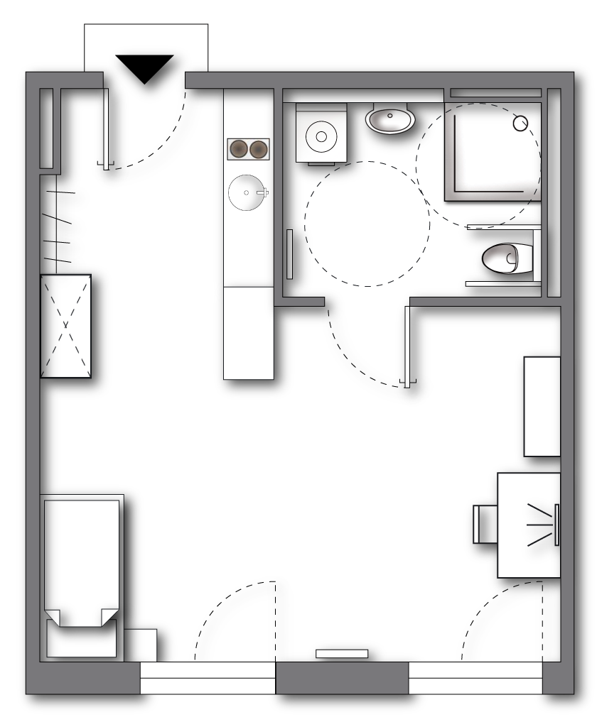 "Wheelchair-Accessible  <br>  <span style=""font-size:12px""> approx. 42 to 52 sqm (plus terrace); ALL-IN-RENT starting from 610 € p.m. </span>"